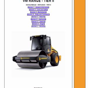 JCB Vibromax VM46D, VM75D, VM115D, VM132D, VM146D, VM166D, VM200D Service Manual