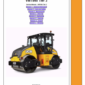 JCB Vibromax VMT860 Tier 3 Service Manual