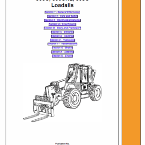 JCB 506C, 506CHL, 508C Loadall Telescopic Handlers Service Manual