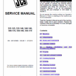 JCB 535-125, 535-140, 540-140, 540-170, 550-140, 550-170 Loadall Service Manual