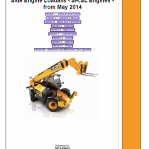 JCB 531-70, 535-95, 536-60, 541-70, 533-105, 536-70, 526-56, 550-80 Loadall Manual Service Manual