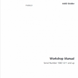 John Deere 660D Skidder Service Manual