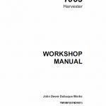 John Deere 1063 Harvester Technical Manual TM-1997
