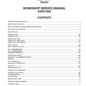 Massey Ferguson 2605, 2615 Tractor Service Manual