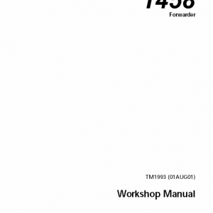 John Deere 1458 Forwarder Technical Manual TM-1993
