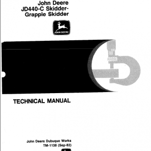 John Deere 440C Skidder Service Manual TM-1124