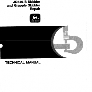 John Deere 540B Skidder Service Manual TM-1139