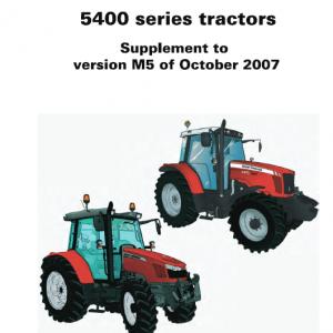 Massey Ferguson 5425, 5435, 5445, 5460, 5465, 5470, 5475, 5480 Tractors Service Workshop Manual