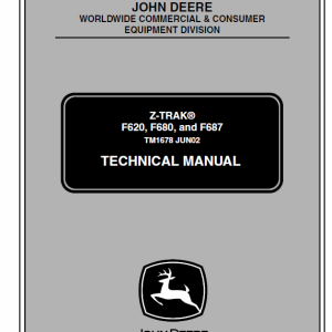 John Deere F620, F680, F687 ZTrak Technical Service Manual