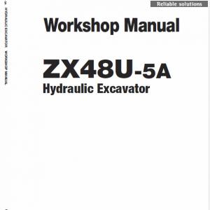 Hitachi ZX48U-5A Excavator Service Manual