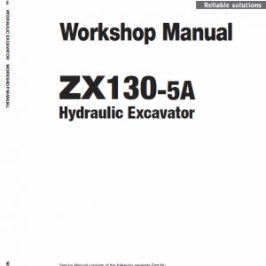 Hitachi ZX130-5A Excavator Service Manual