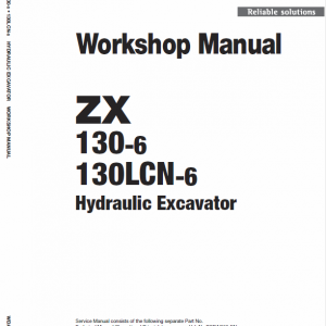 Hitachi ZX130-6 and ZX130LCN-6 Excavator Service Manual
