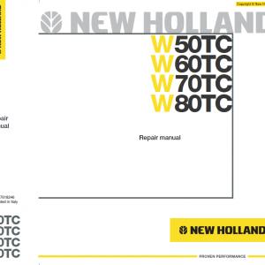 New Holland W50TC, W60TC, W70TC, W80TC Wheeled Loader Service Manual