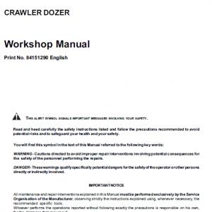 New Holland D180 Tier 3 Bulldozer Dozer Service Manual