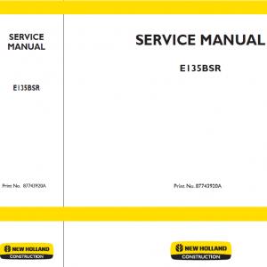 New Holland E135BSR Excavator Service Manual