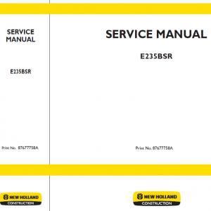 New Holland E235BSR Excavator Service Manual