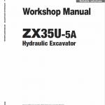 Hitachi ZX35U-5A Excavator Service Manual
