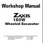 Hitachi ZX160W Wheeled Excavator Service Manual