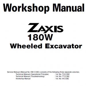 Hitachi ZX180W Wheeled Excavator Service Manual