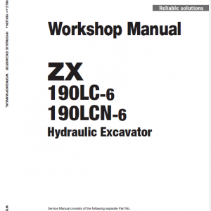 Hitachi ZX190LC-5B and ZX190LC-6 Excavator Service Manual