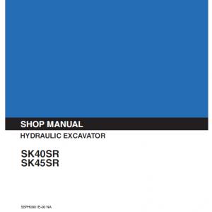 Kobelco SK40SR and SK45SR Excavator Service Manual