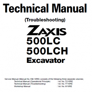 Hitachi ZX500LC and ZX500LCH Excavator Service Manual