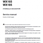 Case WX145, WX165 and WX185 Excavator Service Manual