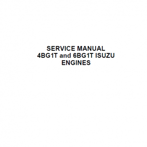 Isuzu 4BG1T and 6BG1T Engines Service Manual