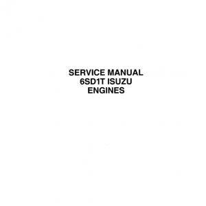 Isuzu 6SD1T Engines Service Manual