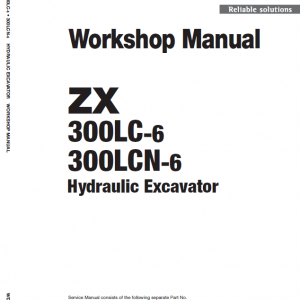 Hitachi ZX330LC-6 and ZX300LCN-6 ZAXIS Excavator Manual