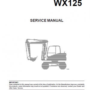 Case WX95 and WX125 Excavator Manual