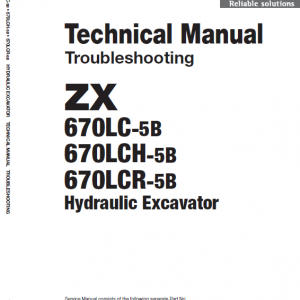 Hitachi ZX670LC-5B and ZX690LCH-5B Excavator Manual