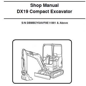 Doosan DX19 Excavator Service Manual