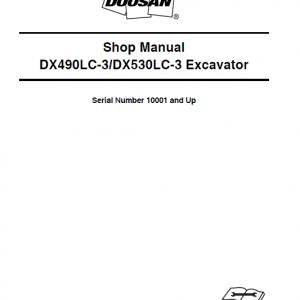 Doosan DX490LC-3 and DX530LC-3 Excavator Service Manual