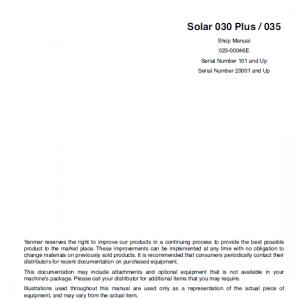 Daewoo Solar S030 Plus Excavator Service Manual