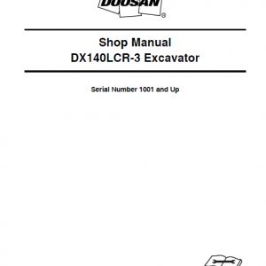 Doosan DX140LCR and DX140LCR-3 Excavator Service Manual