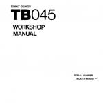 Takeuchi TB045 Excavator Service Manual