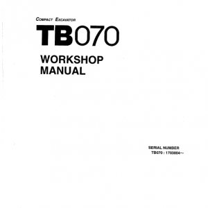 Takeuchi TB070 and TB070W Excavator Service Manual