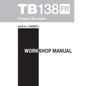 Takeuchi TB138 Compact Excavator Service Manual