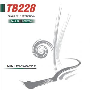 Takeuchi TB228 Compact Excavator Service Manual