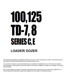 Dresser TD7C, TD7E. TD8C and TD8E Doozer