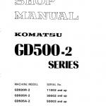 Komatsu GD500R-2, GD505R-2, GD505A Motor Grader Manual