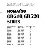 Komatsu GD511A-1, GD511R-1, GD513A-1, GD513R-1 Grader Manual