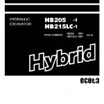 Komatsu HB205-1, HB215LC-1 Hybrid Excavator Service Manual