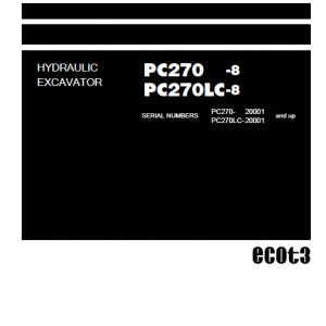 Komatsu PC270-8, PC270LC-8 Excavator Service Manual