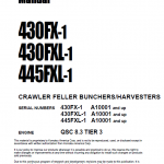 Komatsu 430FX-1, 430FXL-1, 445FXL-1 Feller Buncher Manual