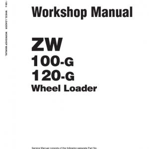Hitachi ZW100-G, ZW120-G Wheel Loader Service Manual