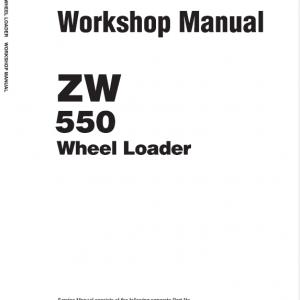 Hitachi ZW550, ZW550-G Wheel Loader Service Manual