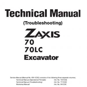 Hitachi ZX70 Excavator Service Manual