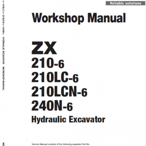 Hitachi ZX210-6, ZX210LC-6, ZX240N-6 Excavator Service Manual